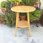yellow round table shabby chic accent patio wood farmhouse and white dining room black gloss side pub set square glass coffee hairpin leg end rustic style tables threshold windham 150x150