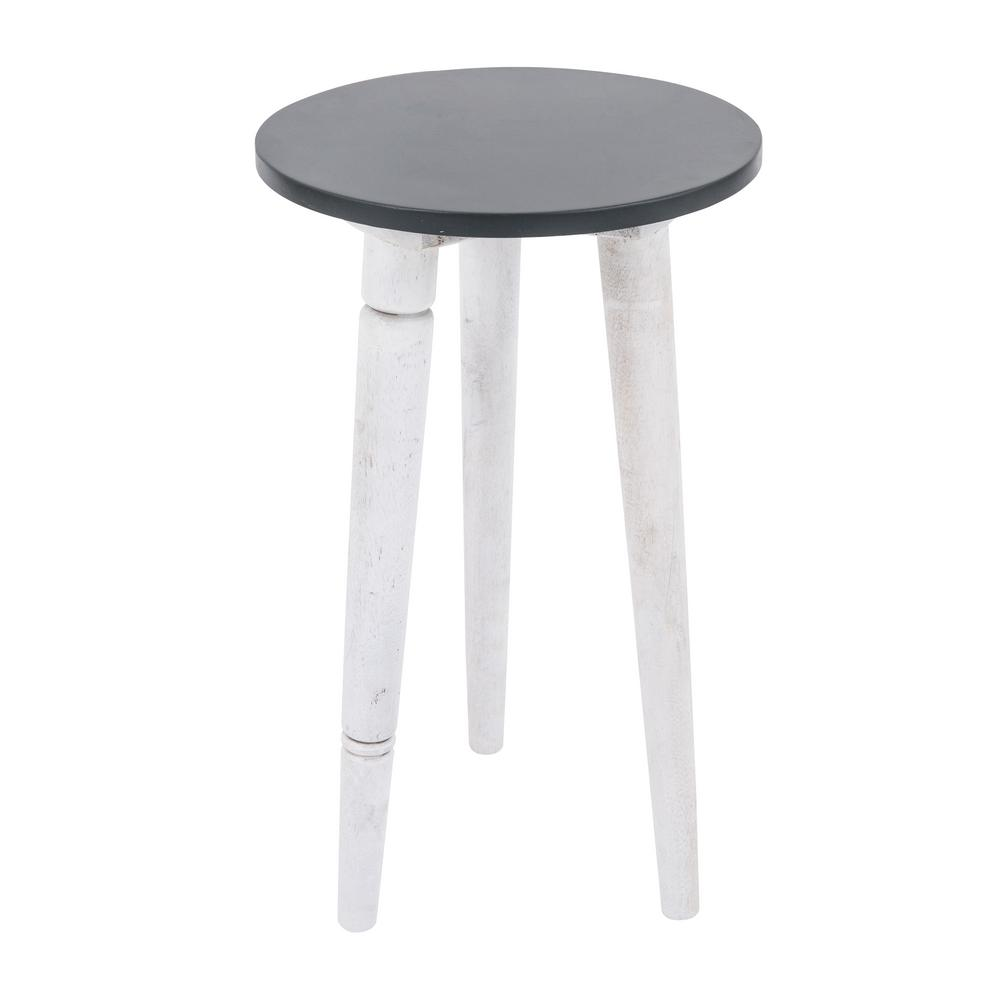 yosemite home decor olas collection mango white accent side table end tables yfur wood contemporary lamps basket coffee marble cocktail bar style coaster piece set gray trestle
