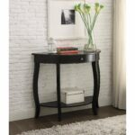 yvonne half moon console table with drawer antique black accent free shipping today shaped movable kitchen island marble nest tables house furniture ideas modern standard lamps 150x150