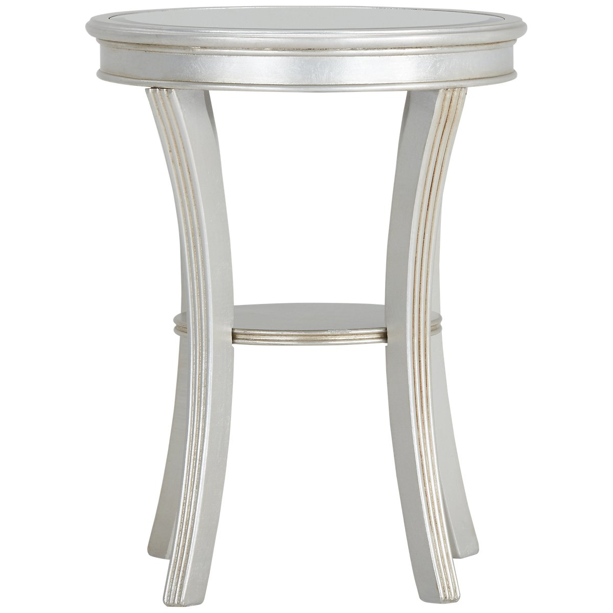 zadie silver accent table pedestal wicker coffee vanity modern black end outdoor nic small chrome lacquer nate berkus bath rug gold frame foyer ideas lucite acrylic side clearance