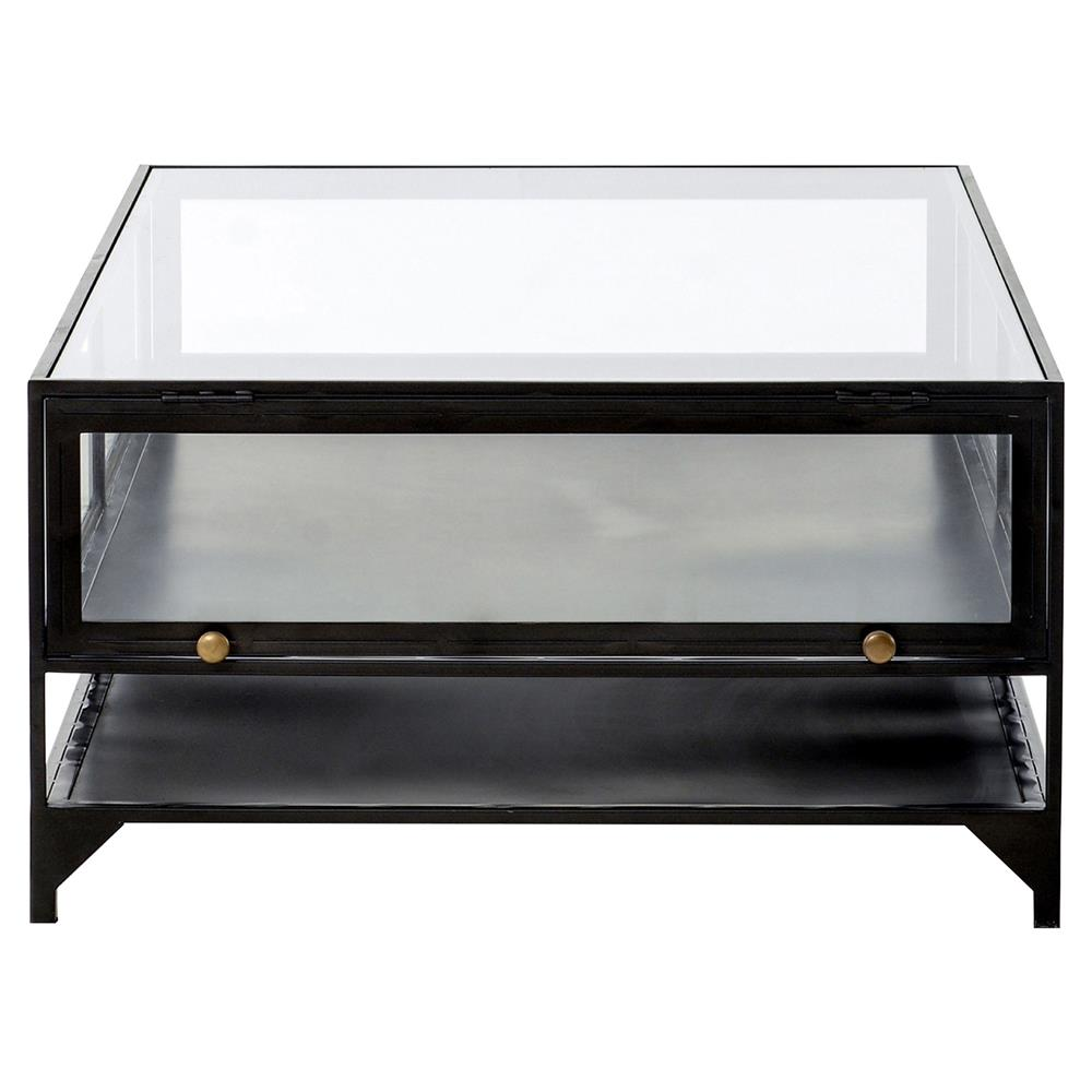 zane industrial loft iron shadow box coffee table kathy kuo home product accent side ikea cube storage tall white nightstand black and mirrored champagne cooler west elm frame
