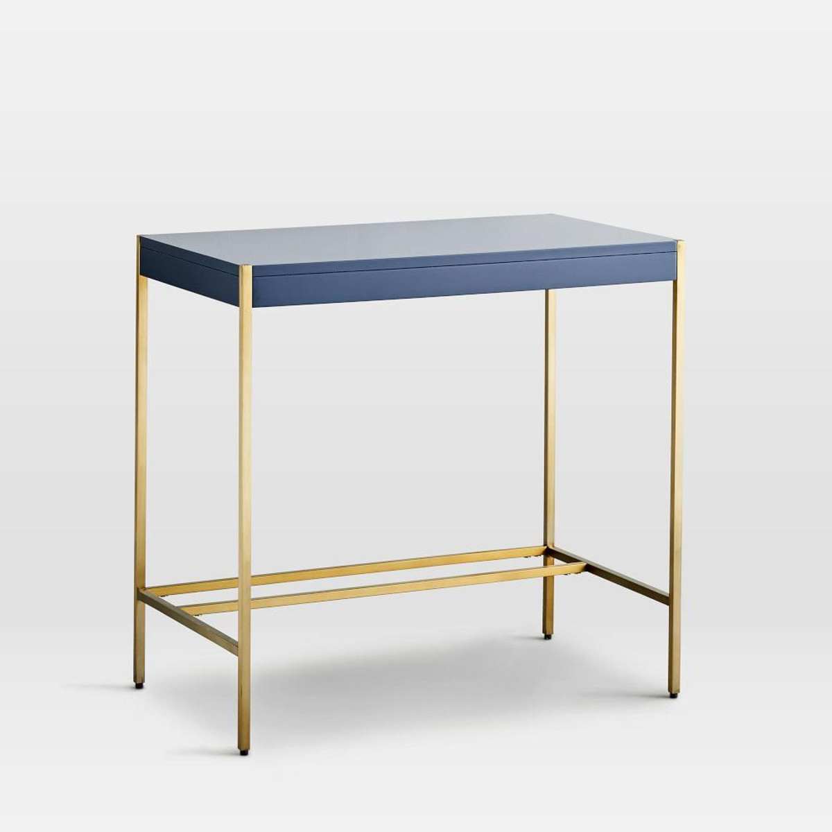 zane mini desk navy west elm media accent side table full size bunkie board clear acrylic nightstand wicker patio ice box cooler kmart bedside kitchen prep barn dining room