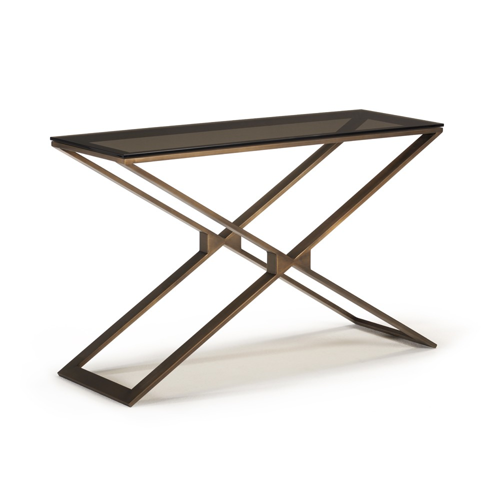 zara console table tables glasswells accent loading zoom three drawer side concrete and wood high top bar set west elm tripod metal hairpin legs target bench seat tile bistro gold