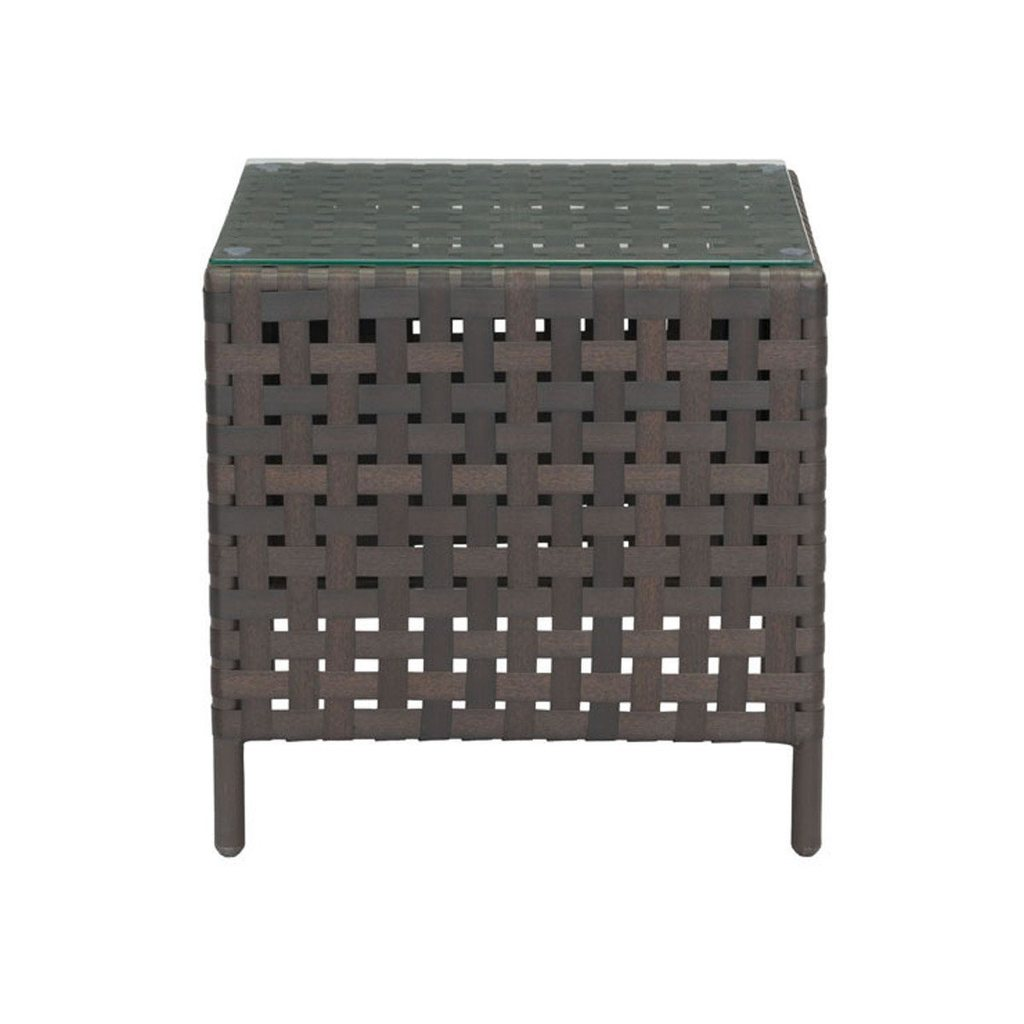 zavala outdoor side table aluminum brown west elm dining room sets ikea storage drawers white farmhouse accent furniture bags emerald green chairs small half moon console with