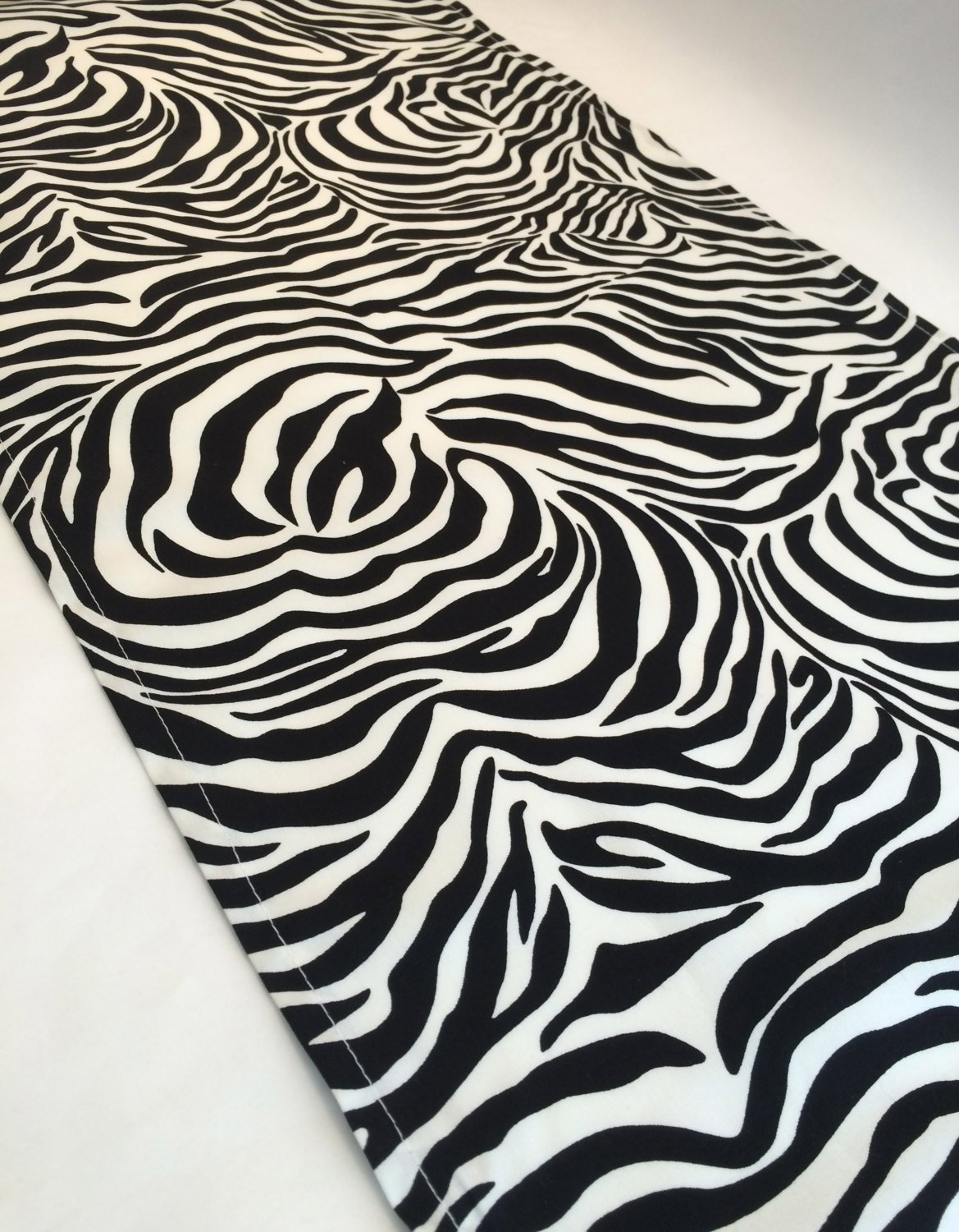 zebra print table runner accent mat etsy fullxfull black counter height faux marble end piece set wood with metal legs sofa covers kmart west elm small iron knock off cherry