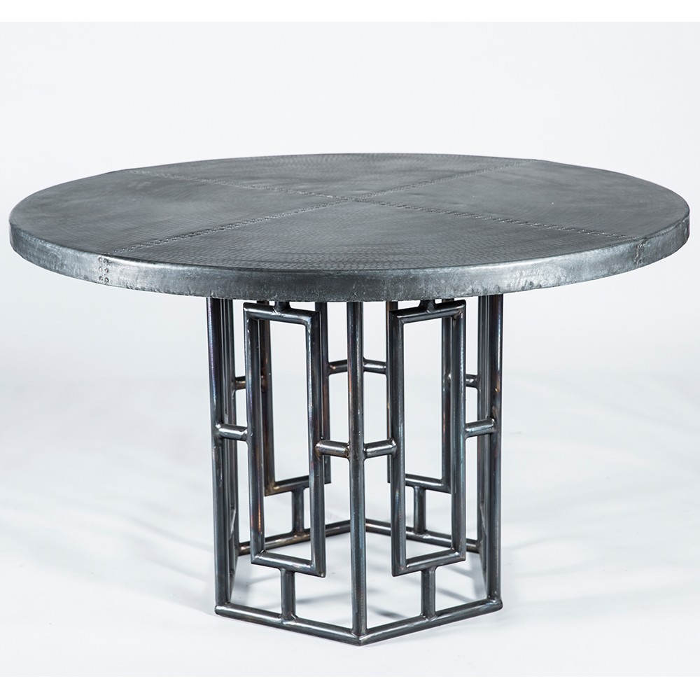 zinc top dining table plus counter height metal round pedestal accent unfinished base turquoise entry multi colored chest console set furniture chrome legs clear acrylic