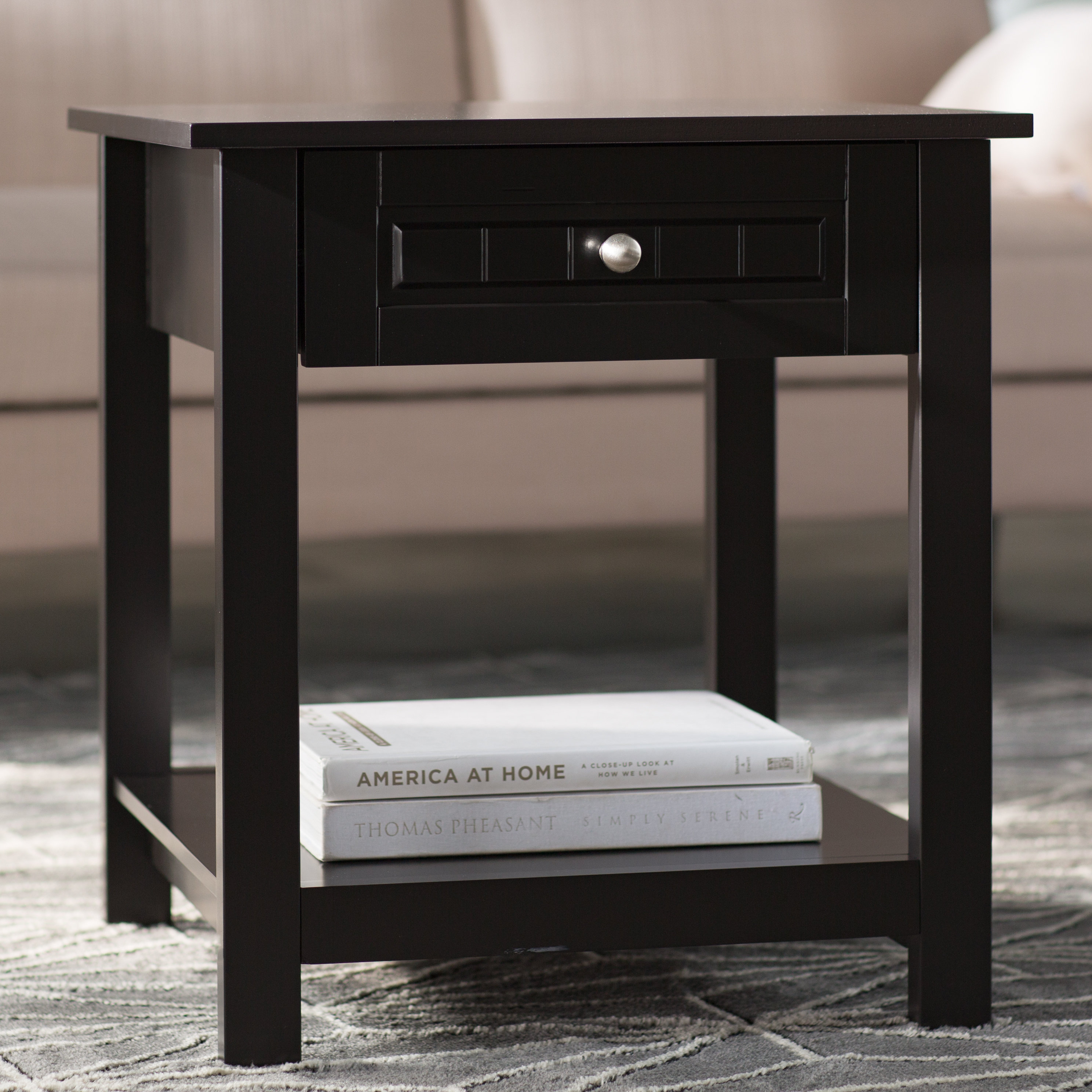 zipcode design mathew end table reviews hadley accent with drawer rolling tool cabinet unfinished side cordless touch lamps marble block black mirrored small round metal patio
