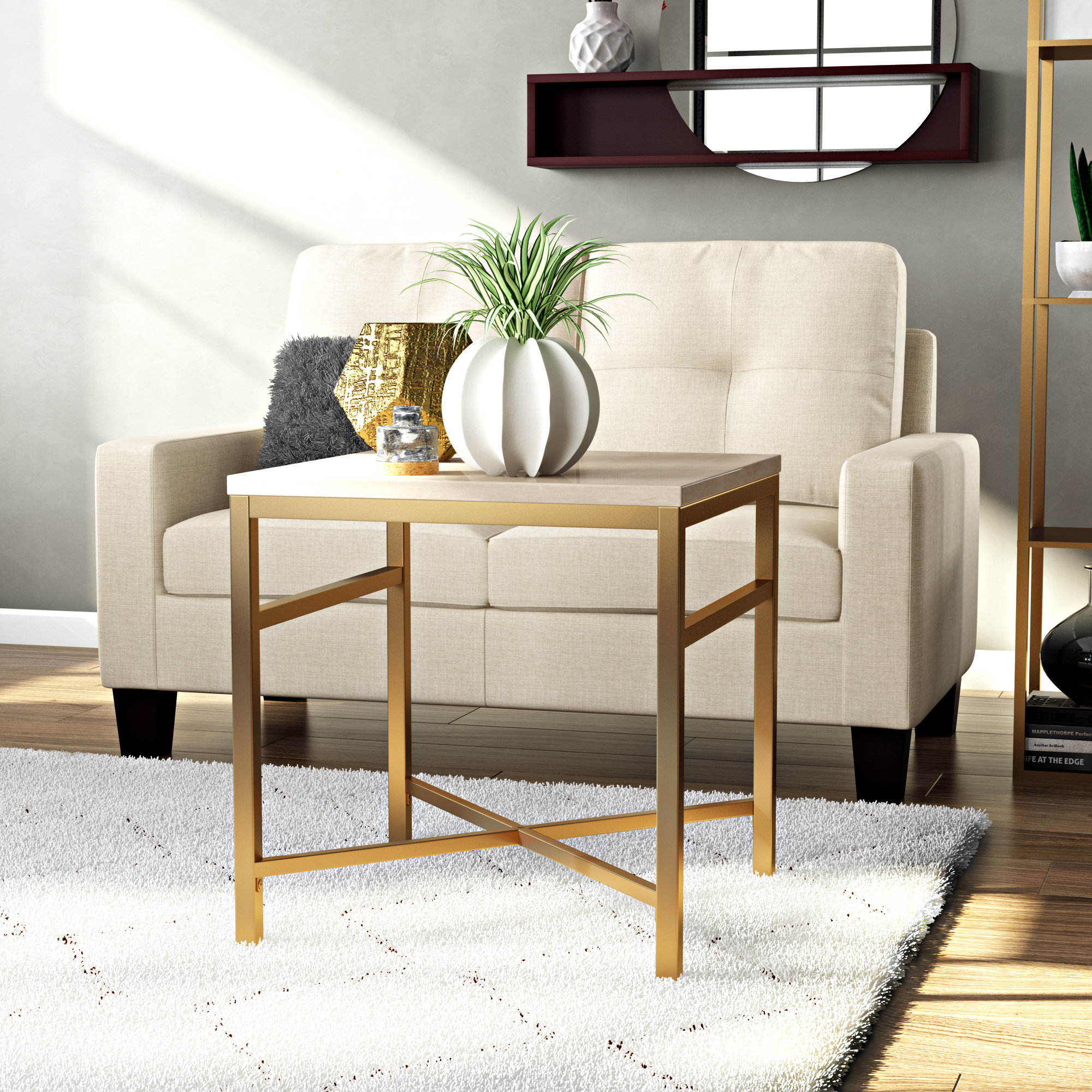 zipcode design stults faux stone end table travertine reviews avalon round accent pier imports furniture green lamps contemporary stump side designs with drawers asian porcelain