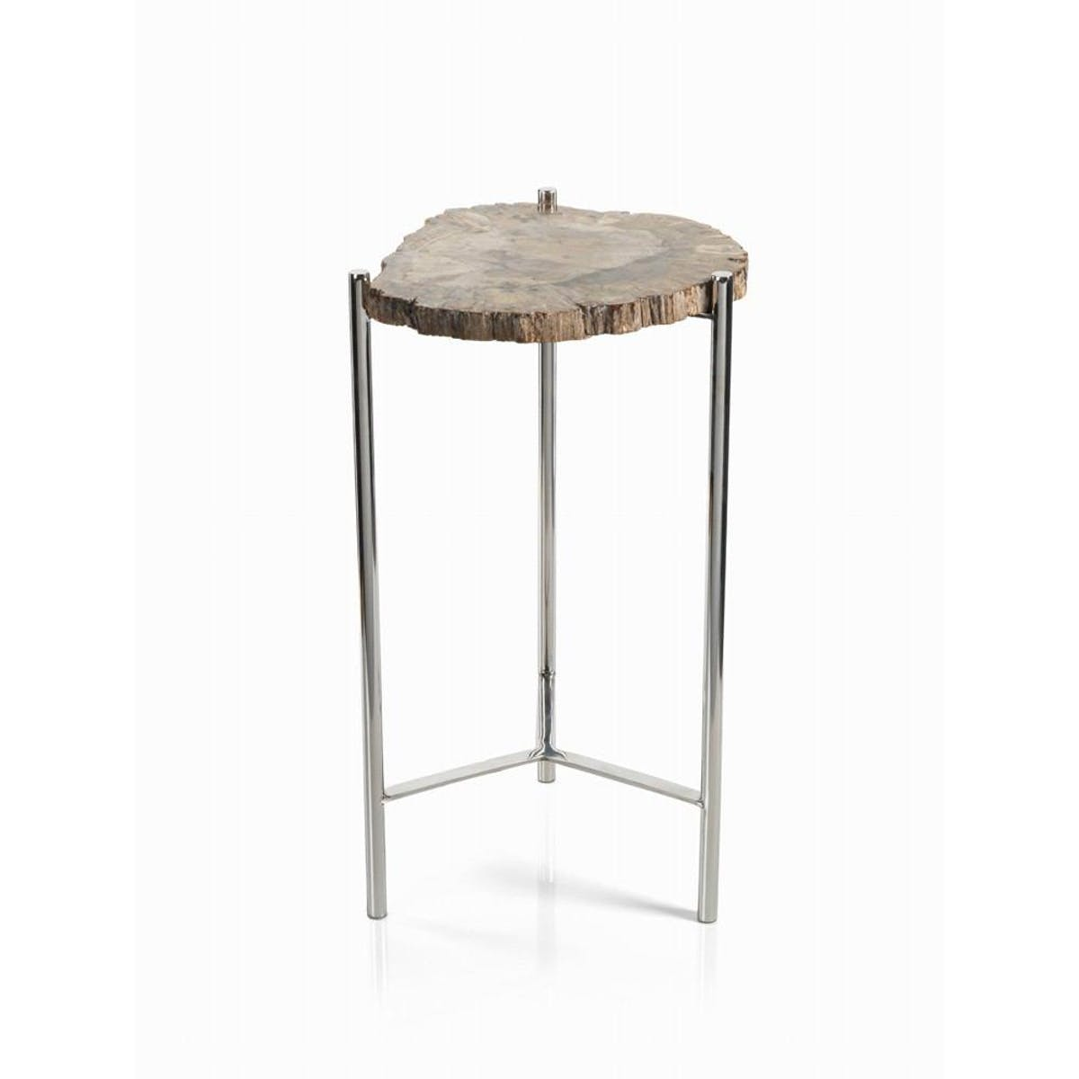 zodax pierce petrified wood accent table inch tall modish outdoor hand painted dress oriental furniture lamps west elm telescoping lamp white and grey marble coffee designer