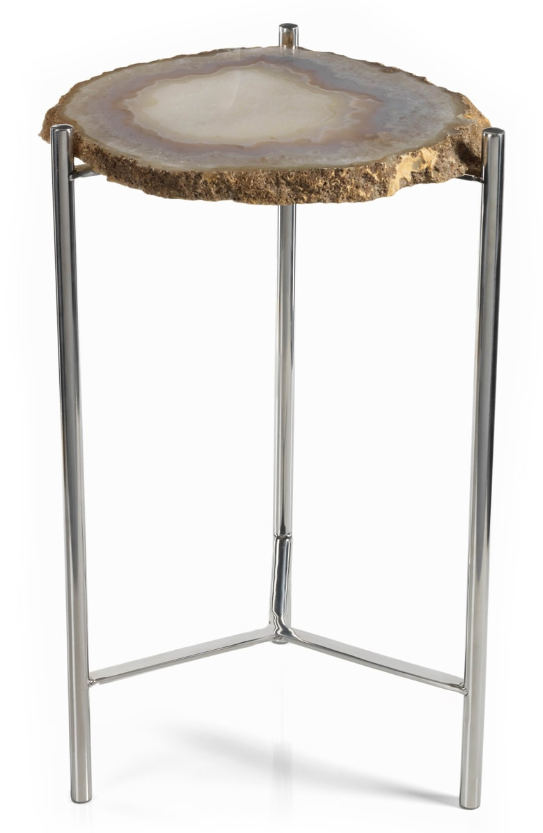 zodax savona agate small accent table nordstrom very main color brown silver wicker target pottery barn wells chair wood iron end blue lamp side with drawers living room ethan