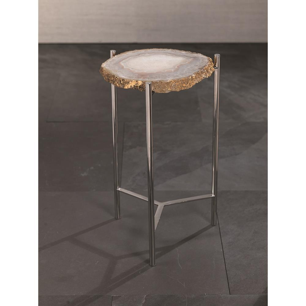 zodax savona inch tall agate accent table maplenest changing cover large tilting patio umbrella with built side tables small round white coffee ethan allen rugs marble dining room