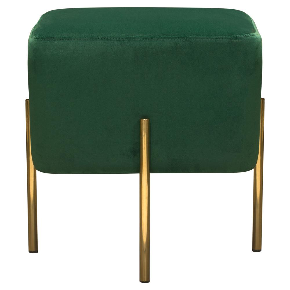 zoe square accent ott emerald green velvet gold metal zoeotem table cherry oak furniture headboard with lights inch nightstand west elm hamilton leather sofa hot water heater