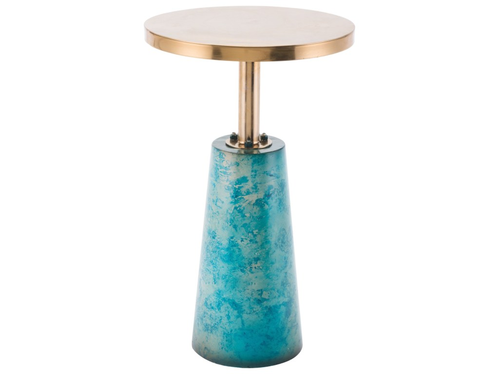 zuo accent tables zaphire end table royal furniture products color teal tableszaphire small mirrored nightstand clear plastic tablecloth ceiling chandelier turquoise sofa entryway