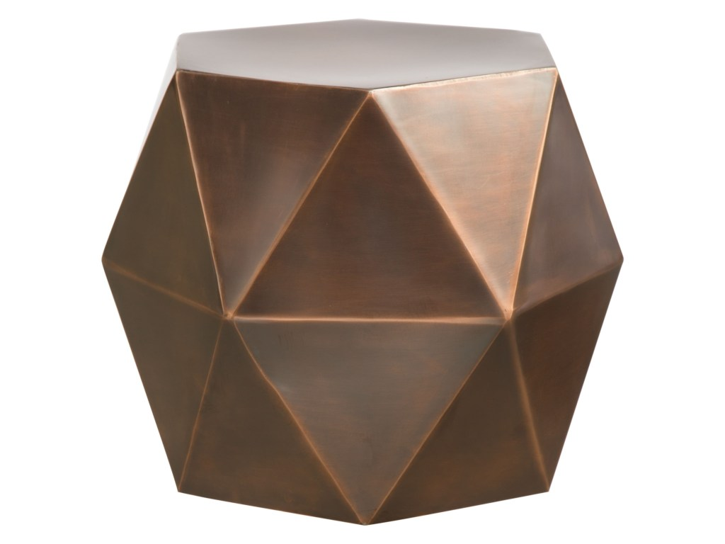 zuo chester iron hexagon accent table pedigo furniture end tables products color threshold copper chesteraccent wall decor bathroom vanity uttermost samuelle wooden coffee target