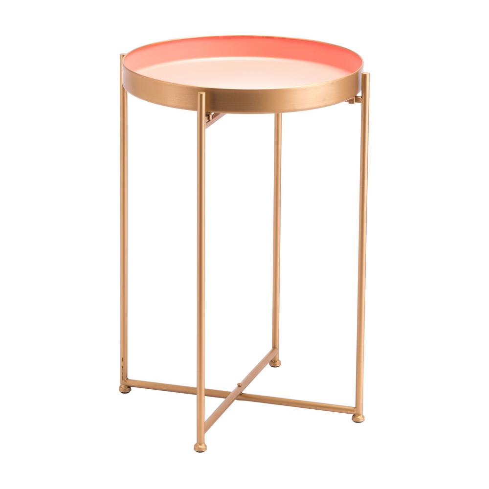zuo red pink tall end table products metal accent outdoor furniture brisbane pier one nesting tables round coffee sets purple tiffany lamp target storage wicker patio small desks