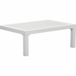 zuo santorini outdoor side table white polywood metal grey high gloss modern end with drawer sunflower tablecloth pubg settings dining and chairs clearance nightstand under 150x150
