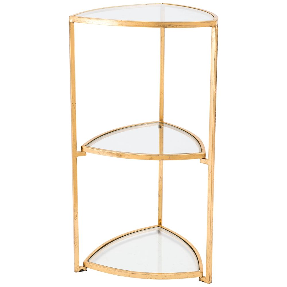 zuo tasha tri level glass and gold corner accent table style heirloom shelf book shelves black cube floating console bookcase with doors wall drawer iron pipe furniture navy blue