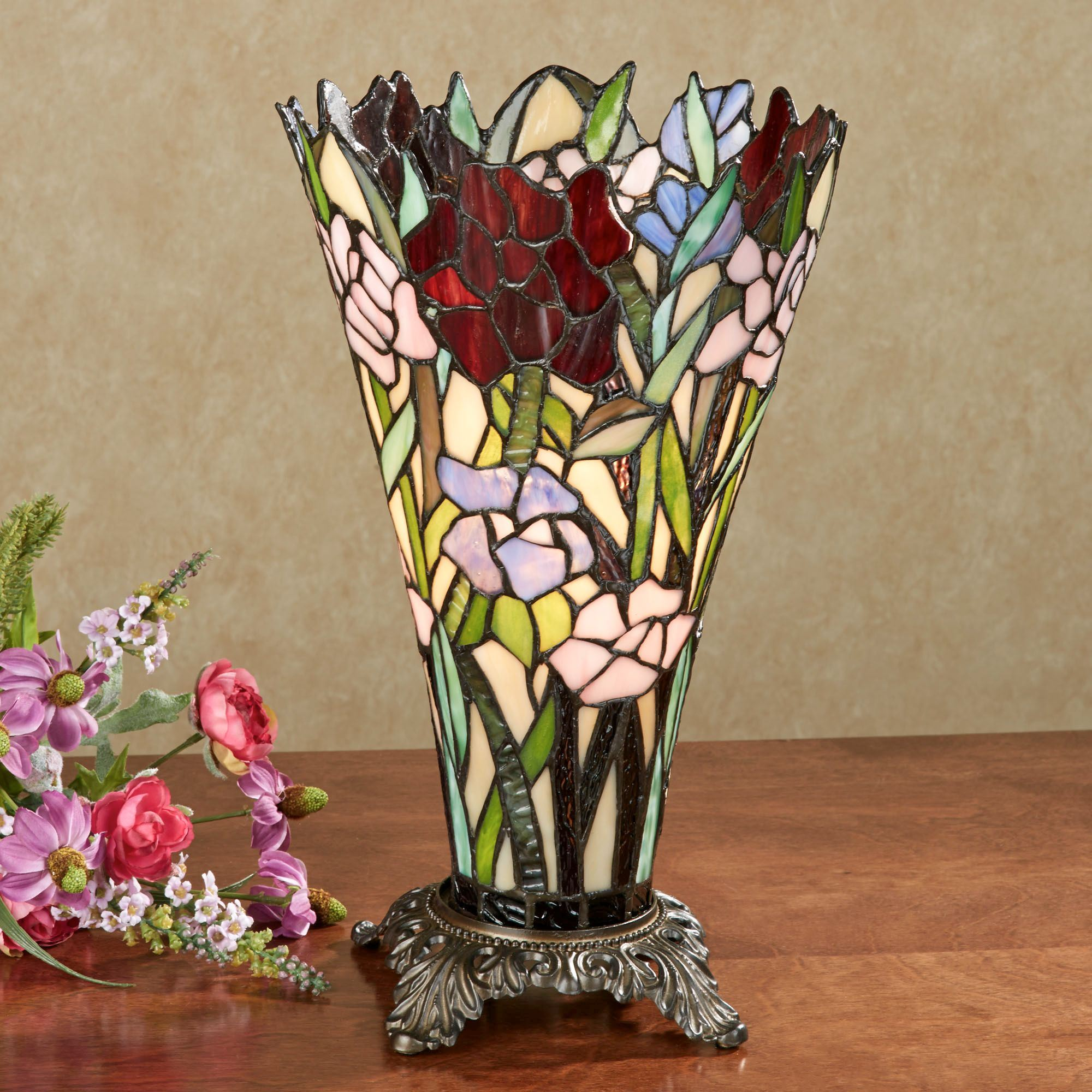 zuri vase shaped stained glass uplight lamp accent table lamps touch zoom pedestals fabric coffee acrylic cube side unfinished wood furniture best end tables laptop decor marble