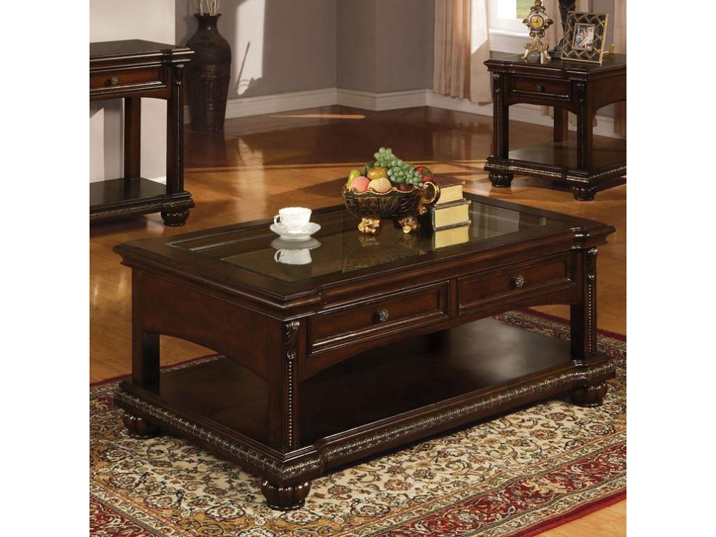 acme furniture anondale traditional coffee table glass del products color tables and end anondaletraditional ashley solid oak with drawers office logo inch deep console stanley
