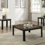 acme furniture finely piece coffee and end table set ijel dark brown tables black kitchen dining scalloped wall shelf mirror bedroom toronto ethan allen signature firm mattress 150x150
