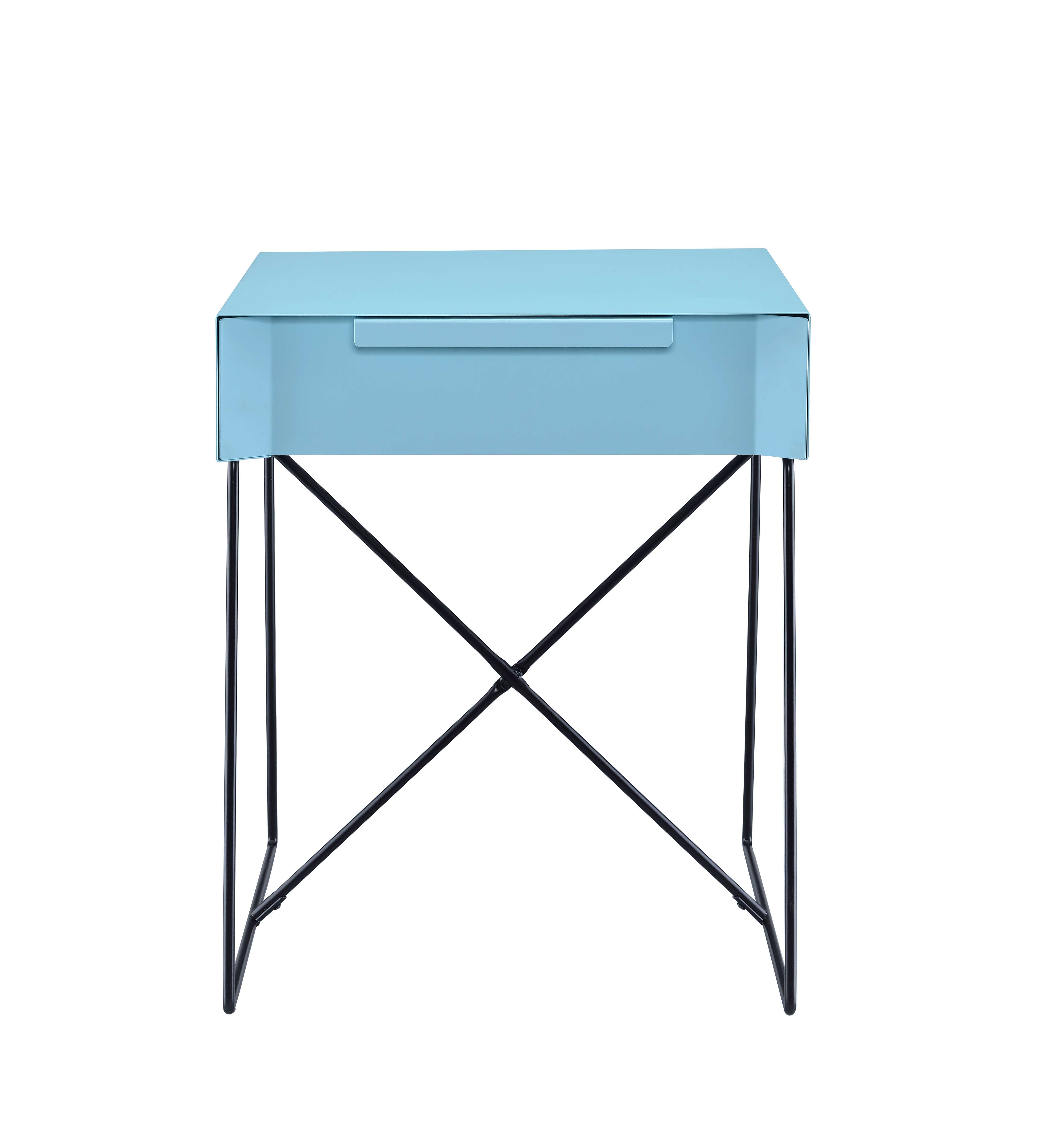 acme furniture gualacao light blue end table reviews goedekers long lexington mahogany fire pit dining set yellow sofa black and white vintage modern tables mid century bedroom