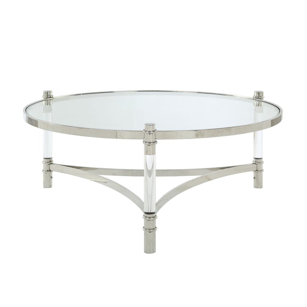acme furniture peony clear acrylic stainless steel and glass coffee tables end table ethan allen toronto gray leather chair nest night stands mission style drawing room rod iron