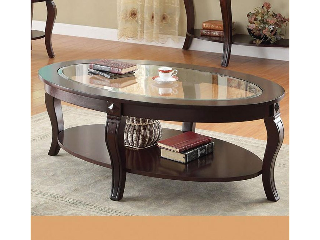 acme furniture riley transitional oval coffee table glass products color end tables rileyoval ceramic elephant large round side living spaces ethan allen couches stainless dog