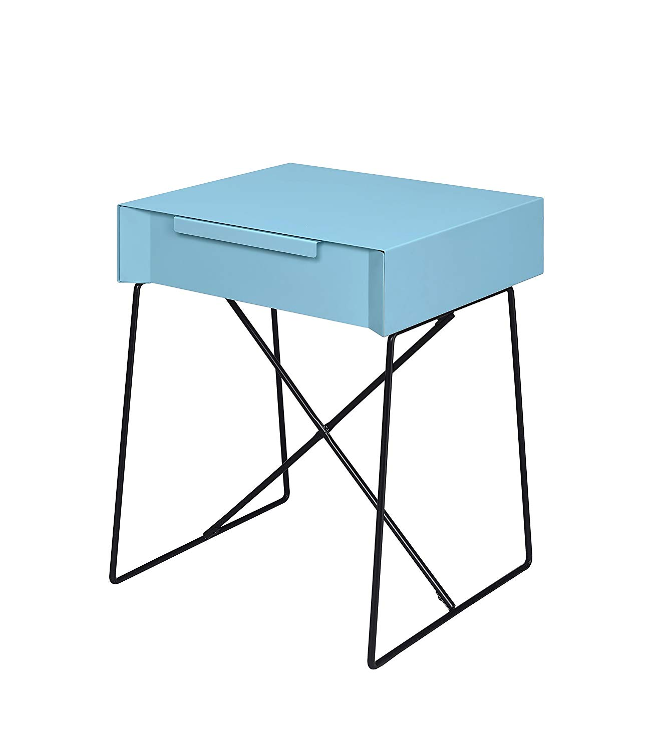 acme gualacao light blue end table kitchen dining patio side clearance size lamp kmart gold modern black sofa fire pit set ashley chocolate turquoise wood coffee furniture row