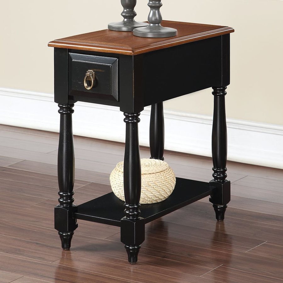 acme qrabard black oak end table tables kmart kids tall white lamps luxury modern dining room furniture metal round marble and gold coffee cart with cabinets large square glass