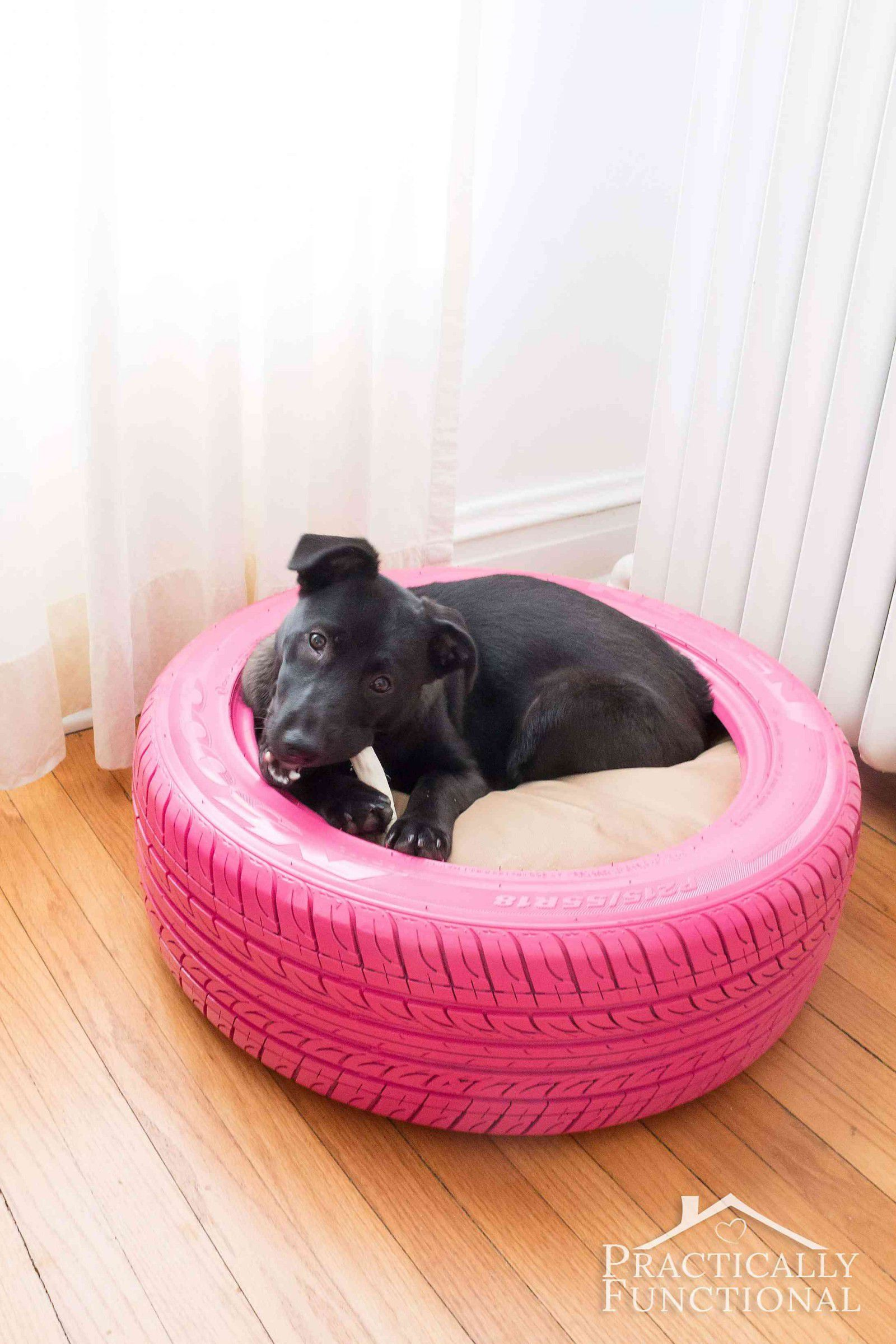 adorable diy dog beds how make cute pet tire end tables made into shaped living room furniture layout jojo green table antique round folding pro app vintage mahogany coffee quirky