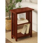 alaterre furniture cherry shelf end table the tables wood pine log highpoint ping centre larrenton round dining frosted glass bedside ethan allen home furnishings boston chair 150x150