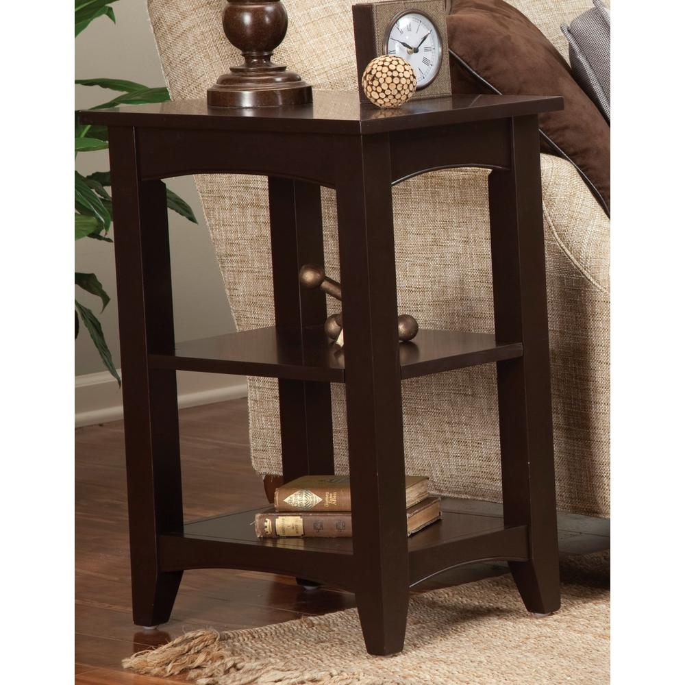 alaterre furniture shaker cottage chocolate storage end table tables brown the broyhill piece outdoor set small vintage bedside lift top cocktail ashley weathered diy bulb floor