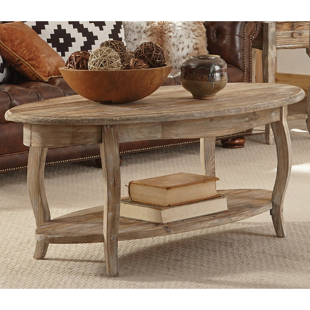 alaterre rustic reclaimed wood oval coffee table end tables furniture bear hollow west elm industrial mirror pine mission bedroom small console macys white vintage bedside