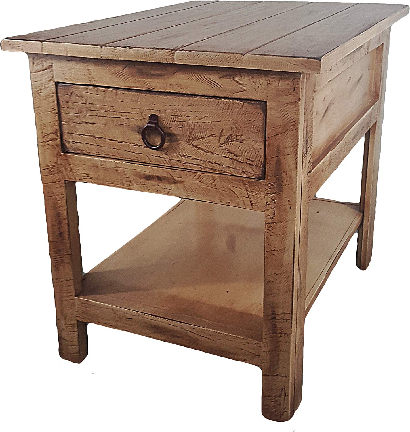 american heartland rustic end table tables soft white kitchen dining round glass coffee wood base side floor lamps old pallet furniture etched door for bedroom whalen fully
