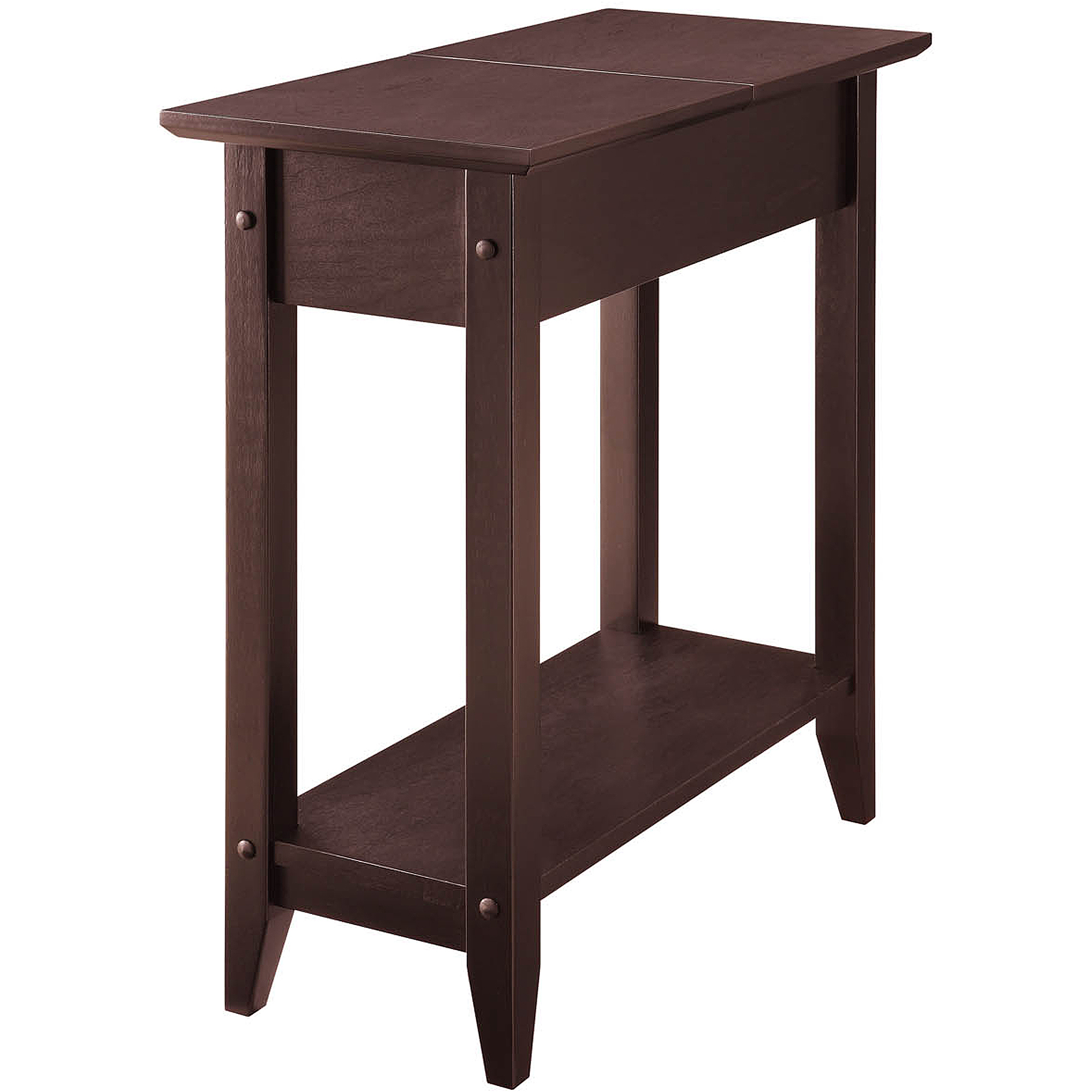 american heritage flip top tall side table espresso narrow end magnolia farms breakfast broyhill catalog brookstone cocktail master floor lamp with reading light modern children