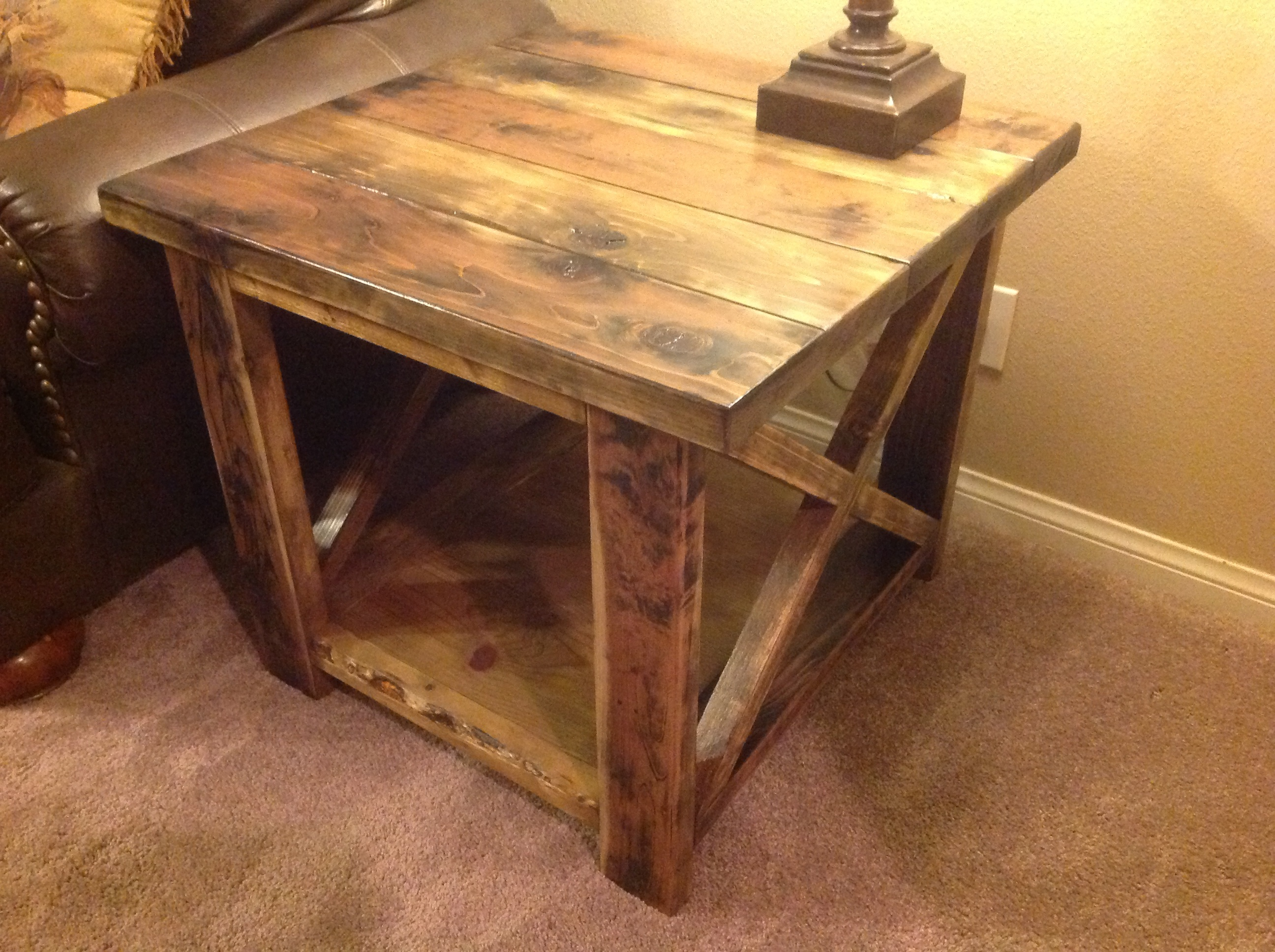 ana white rustic end table diy projects tables nightstand blue base lamps country style coffee cottage traceys bedroom furniture knoxville glass with pillars tall hall gray and