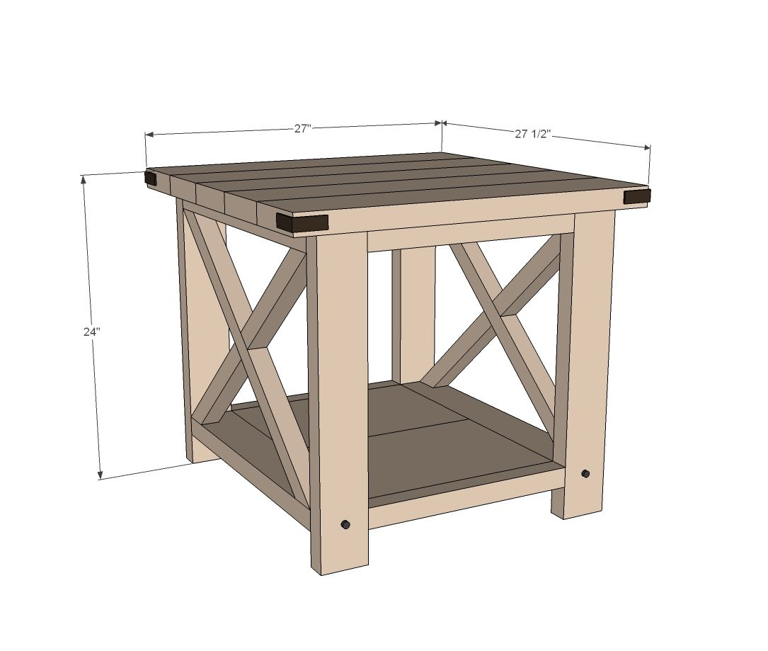 ana white rustic end tables diy build table free and easy project furniture plans mission style coffee with drawers homemade dog crate cover measurements log garden gray lamps