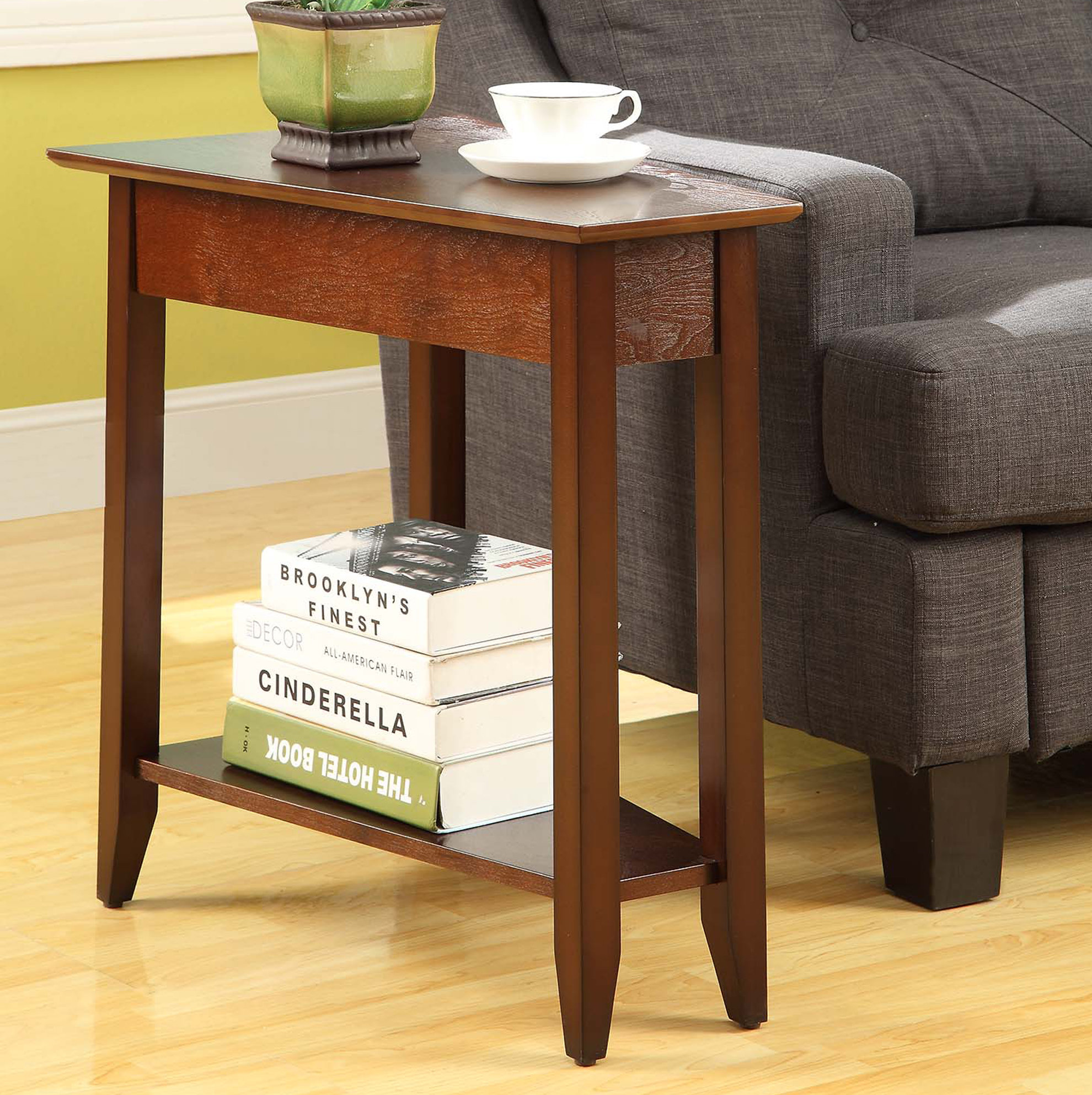 andover mills randel wedge end table reviews espresso finish dog kennels that look like tables dark coffee decorating over couch ashley south shore dining set italian marble