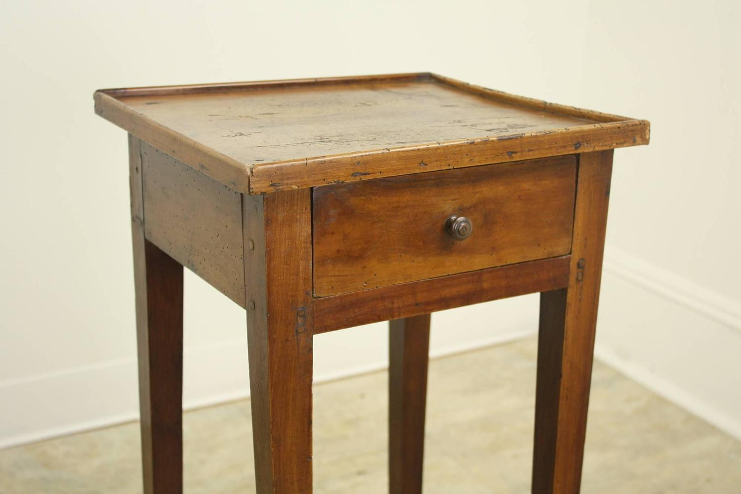 antique french cherry side table charming small gallery img end tables kmart porch chairs outdoor fire pit brown sofa black furniture spray paint for kids diy metal legs porcelain