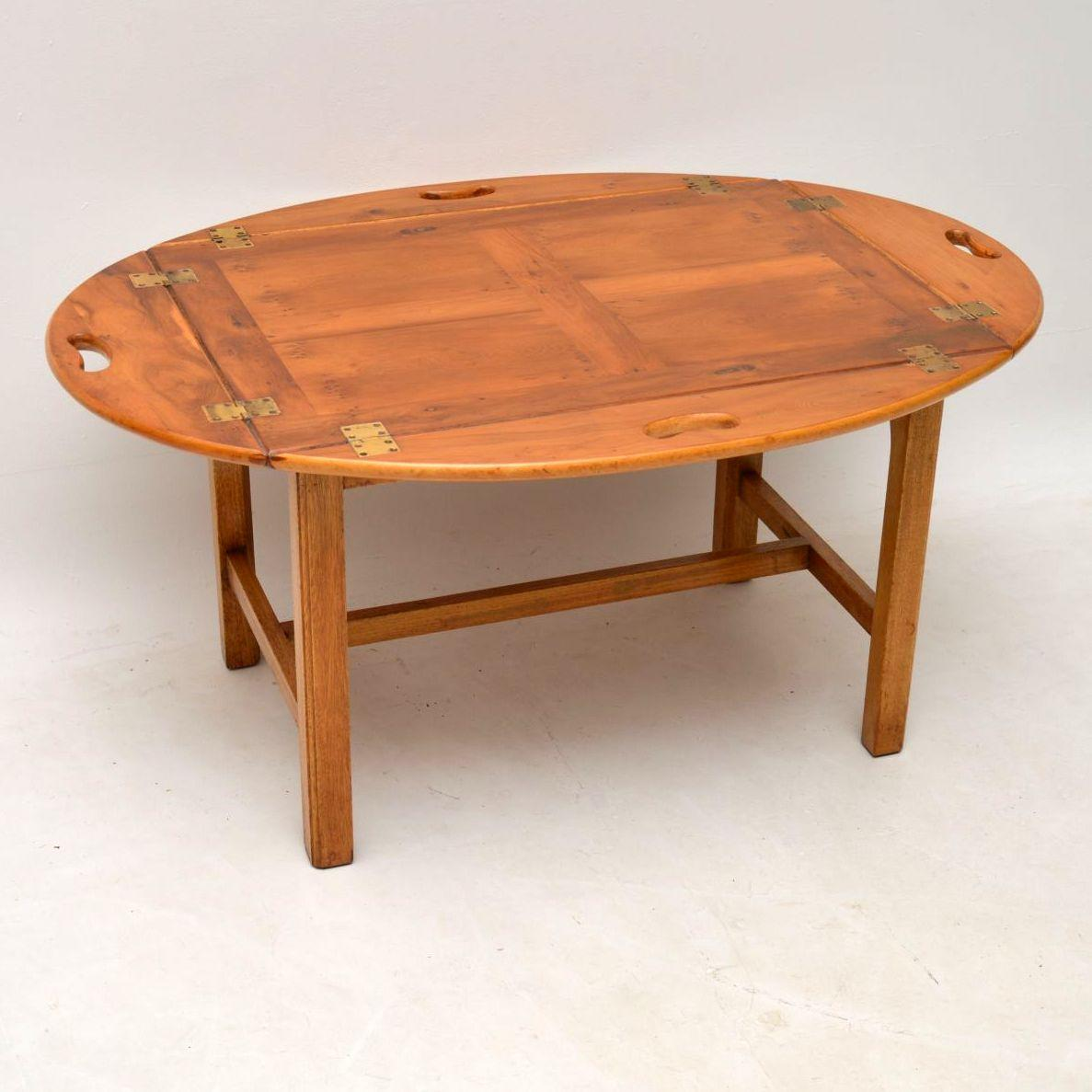 antique style yew wood butlers tray coffee table for master end piece outdoor setting kmart abelard cocktail balcony furniture stanley chair unique marble mission ontario what