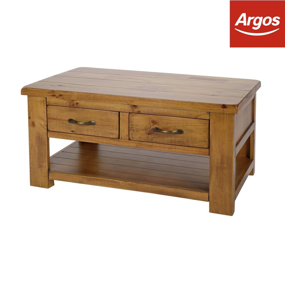 argos home drawer shelf solid pine coffee table end details about wedge with storage ethan allen hampton sofa stickley furniture nyc jos modern floor lamps affordable bedroom
