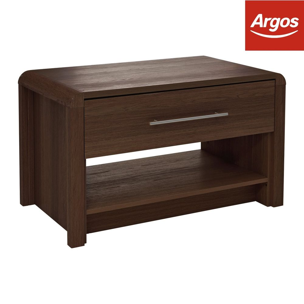 argos home elford drawer coffee table walnut effect end details about the night stand ethan allen hampton sofa stickley furniture nyc oval small audrey mirrored fire pit with