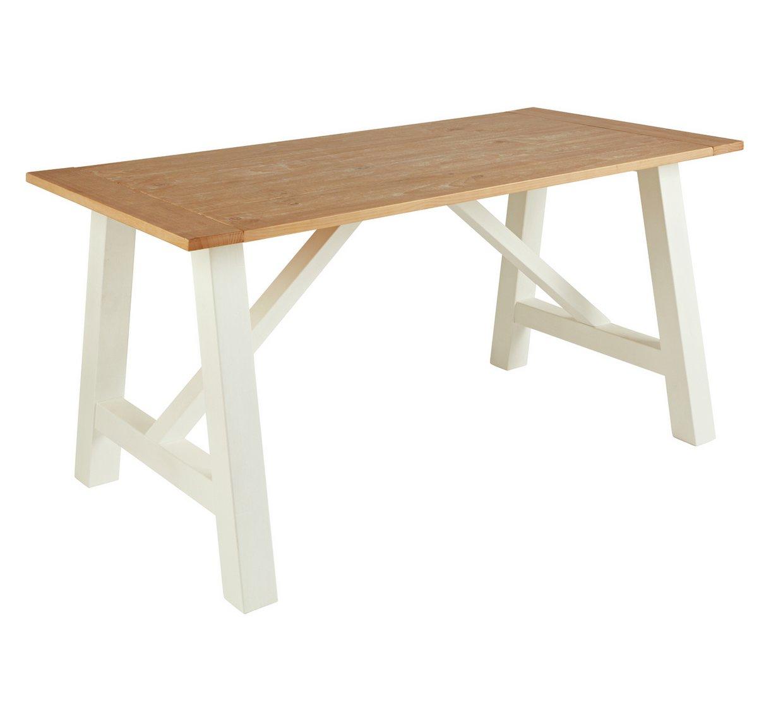 argos home farmhouse table two tone dining tables end thomasville furniture woodbridge cedar log bar stools nursery ethan allen hampton sofa inch outdoor cherry finish accent oval