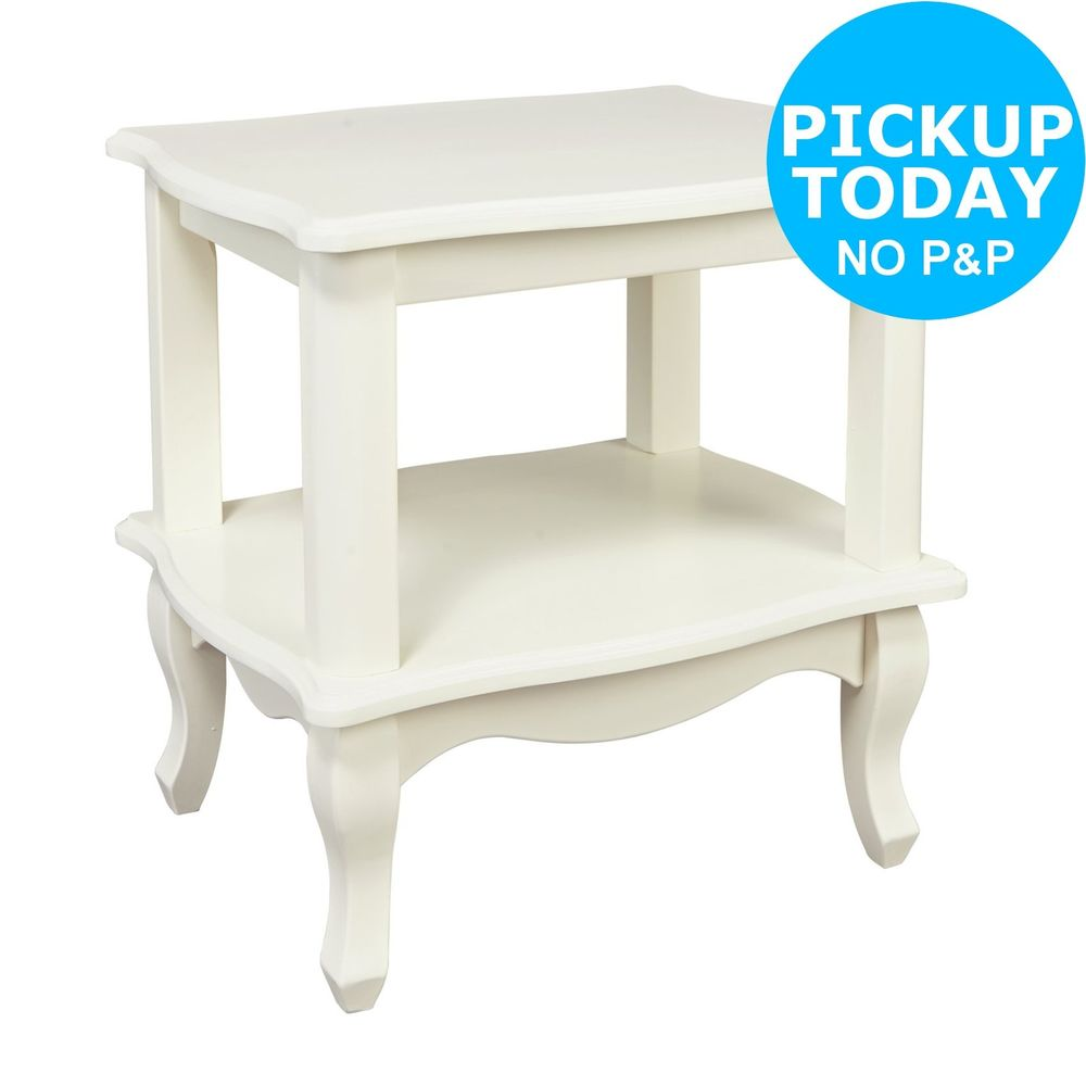 argos home serenity end table white details about ethan allen audrey sofa inch outdoor narrow cherry tray king bedroom furniture sets affordable modern oval small mirrored
