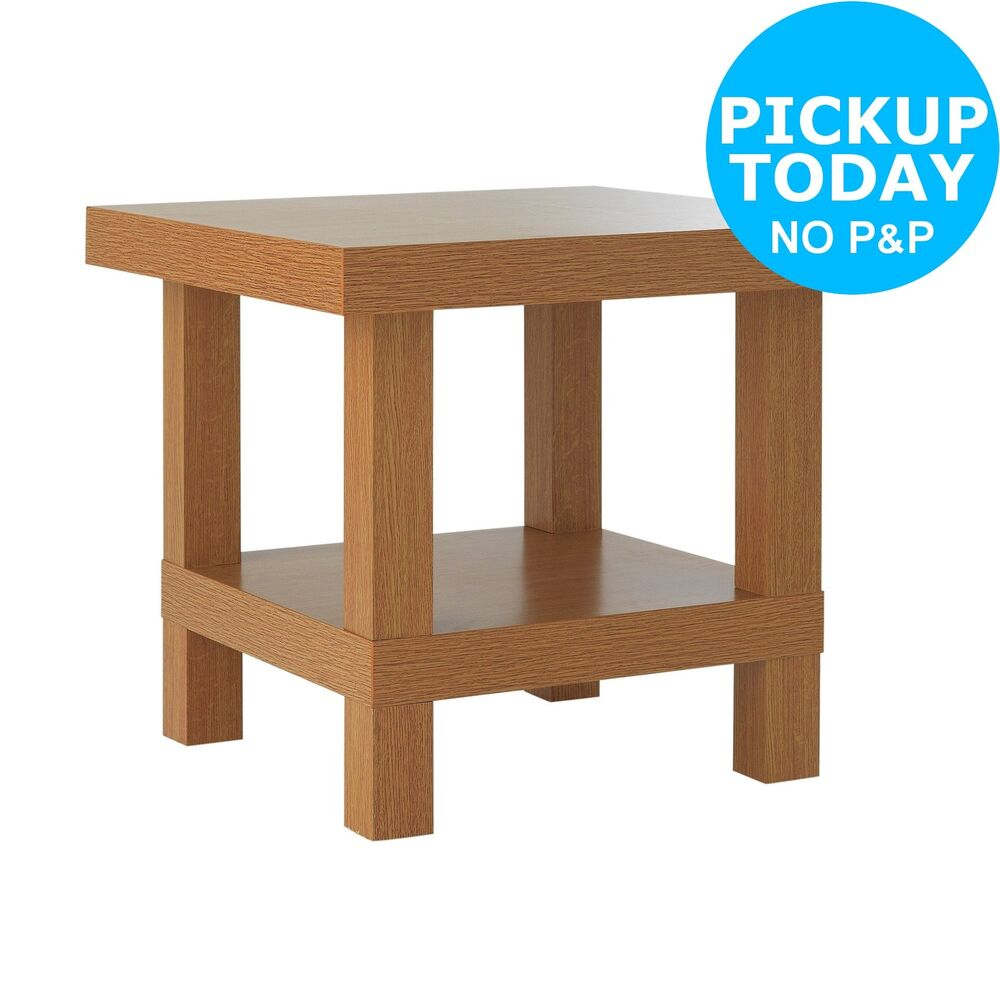 argos home stratford chunky end table oak effect details about the night stand inch outdoor what colour walls with brown leather sofa jos furniture coffee glass nightstand pet