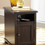 ashley barilanni dark brown chair side end table wcc wood cherry coffee sets log bench contemporary glass nest tables round with matching ethan allen bedroom furniture farmhouse 150x150