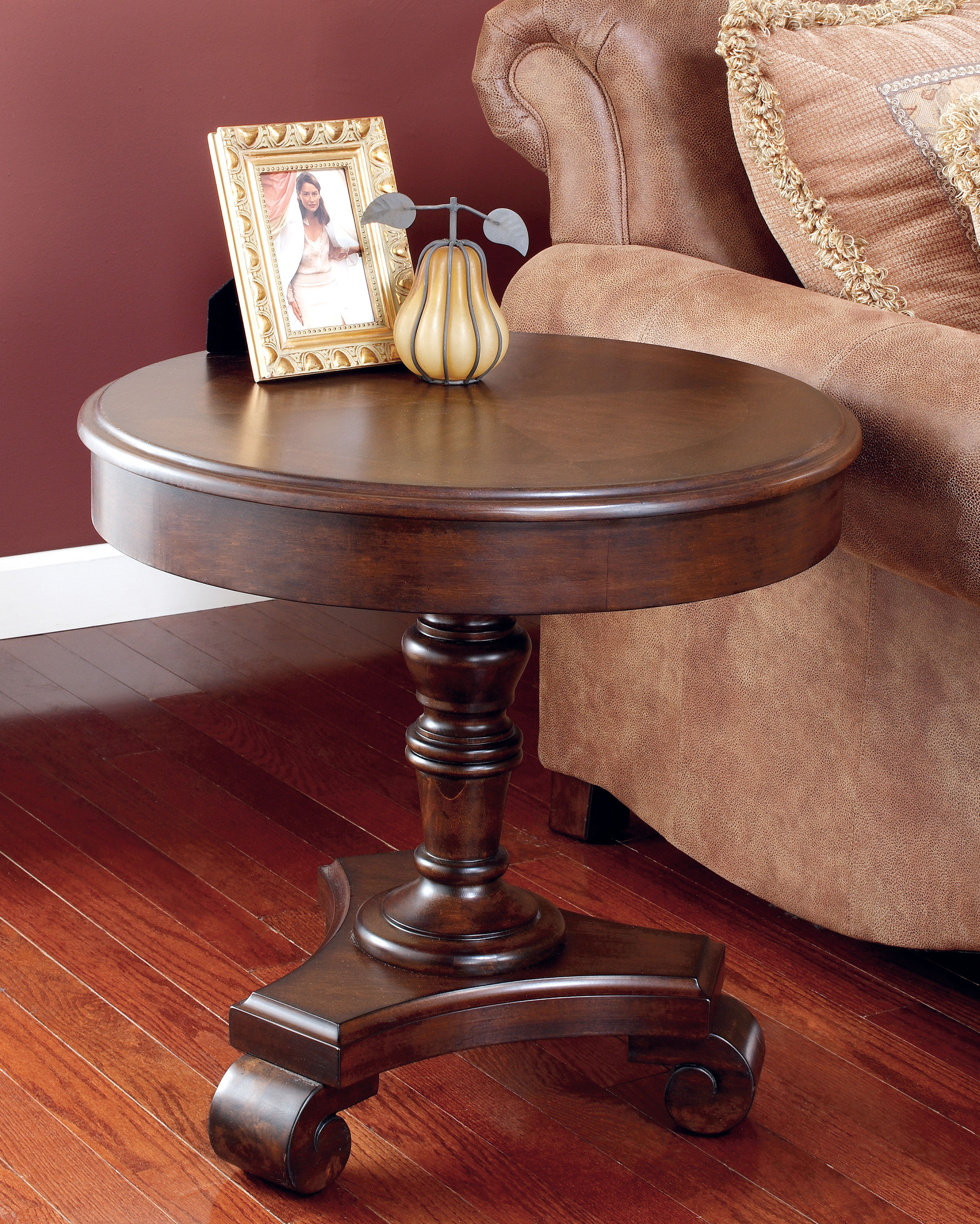 ashley furniture brookfield round end table the classy home click enlarge espresso wood nightstand tall black accent sofa and chairs best coffee tables whalen storage ott