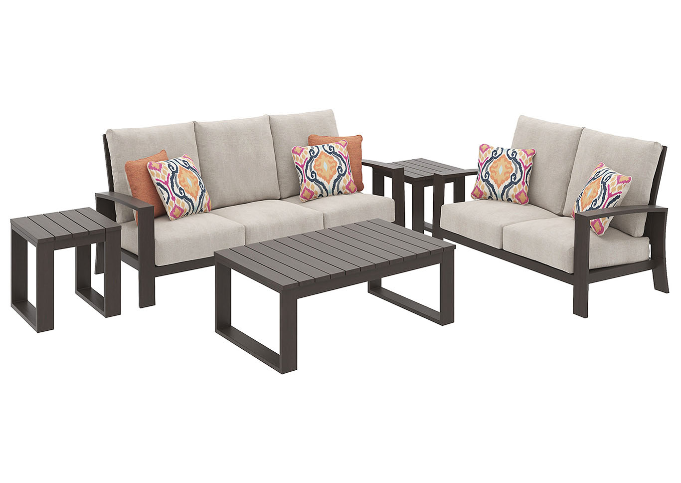 ashley furniture home independently owned and operated end tables for dark brown couch cordova reef sofa loveseat rectangular cocktail table square building rustic dining room