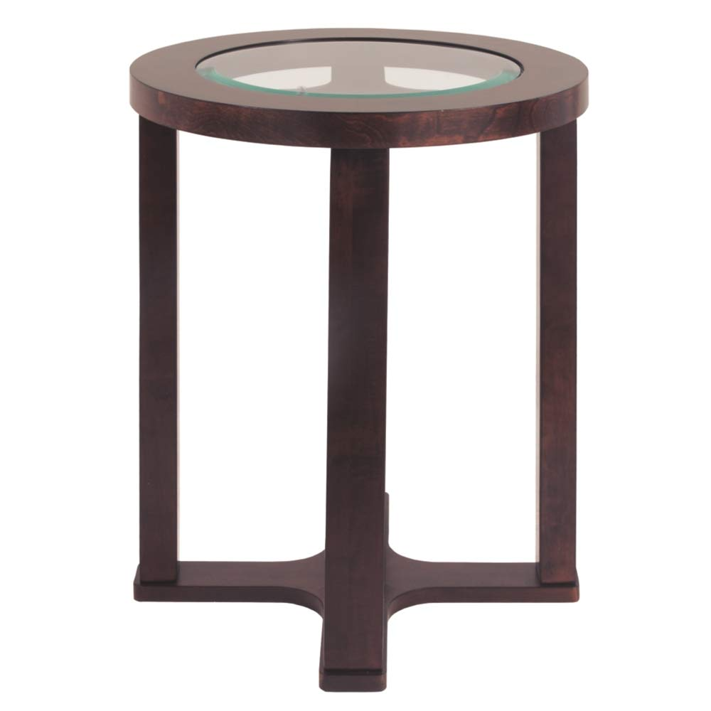 ashley furniture marion round glass end table dark brown tables home kitchen grey living room with leather couch girls bedroom whalen braxton dining set ethan allen vanity square