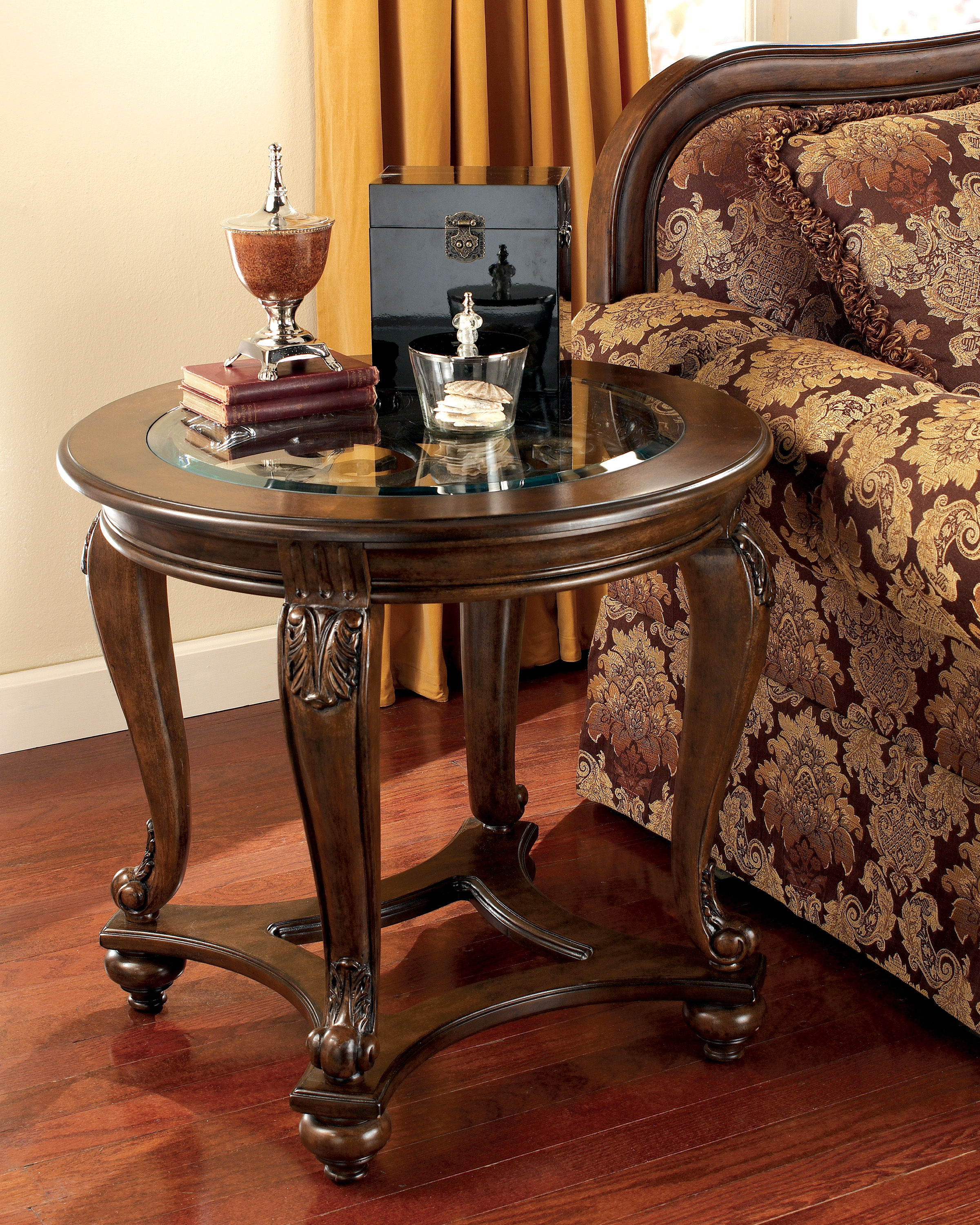 ashley furniture norcastle end table the classy home north shore click enlarge powell heirloom cherry jewelry armoire kmart summer reception inch black plastic water pipe ranch